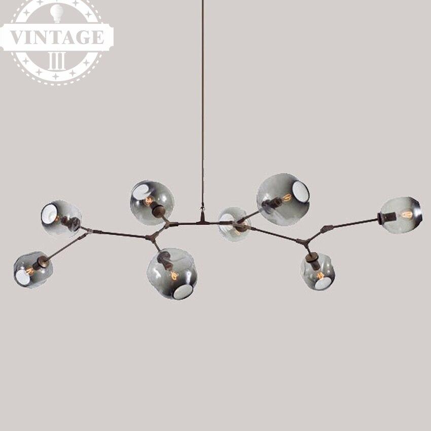 Вилла Бурлящий шарик подвесной светильник Европейский персонализированные молекулярная Post современный минималистский стекло подвесной с