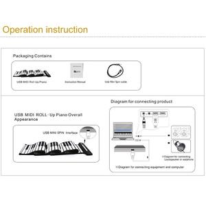 Image 4 - 휴대용 61 키 롤업 피아노 USB 미디 키보드 미디 Conctroller 핸드 전자 피아노