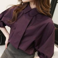 2016 Spring Brand Long Sleeve Slit Open Women Blouse Chiffon Hollow Sexy Casual Shirt Plus Women