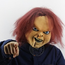Cosplay Mask Doll Game-Trick Chucky Terrorist Scary Ghost Adult Toy Party-Show