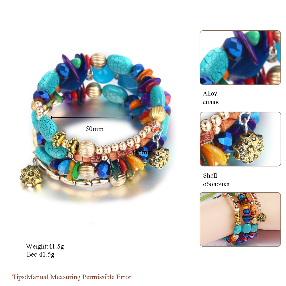 Bohemian fashion charm bracelets for women 4