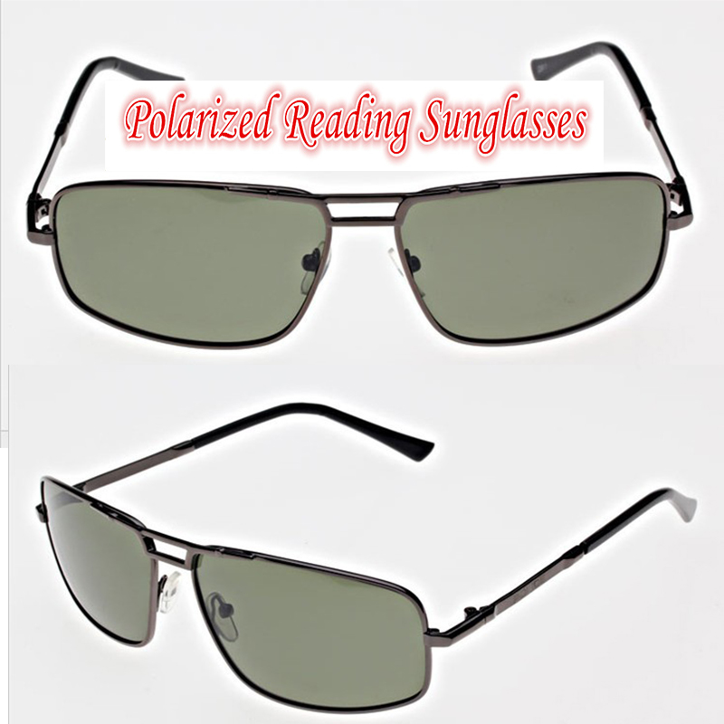 !!!Polarized reading sunglasses!!! al mg alloy fram black sunglasses men's car sunglasses +1.0 +1.5 +2.0 +2.5 to +4