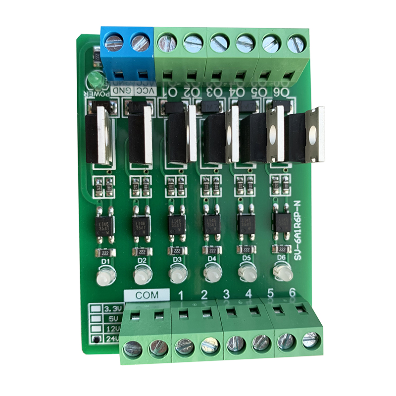 6 Channel PLC Amplifier Board Input Full Compatibility Photoelectric Isolation Board High Power Transistor 24V 12V 5V 3.3V