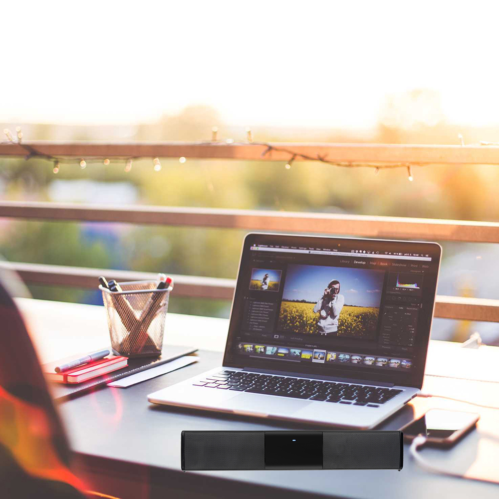 Wireless Bluetooth Column Sound bar Stereo Speaker TV Home Theater 2000mAh Battery SoundBar TF USB Sound Bar Subwoofer 330MM fashion tv sound bar surround bluetooth wireless speaker stereo home theater subwoofer new arrival
