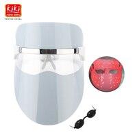 2017 KIKI 32 LEDs Facial Mask Red Blue Orange Color Photon Electric Skin PDT Boosts Blood