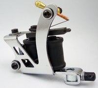 Chrome Tattoo Machine For Beginner Tattoo Apprentice Machine 10 Warps Coil Guns For Liner And Shader