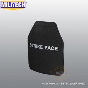 Image 3 - MILITECH 2 PCs Curve SIC & PE NIJ IV Bulletproof แผง NIJ IV Stand Alone Ballistic แผ่น NIJ LVL 4 คอมโพสิตเกราะ