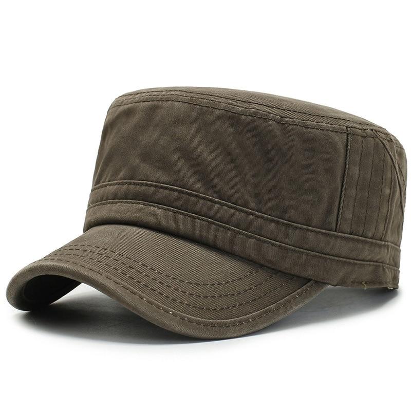 Kopfbedeckungen Für Herren Clever Herren Solid Black Top Caps Sommer Herbst Militär Hüte Knochen Gorras Trucker Cap Knochen Masculino Papa Hut Komplette Artikelauswahl