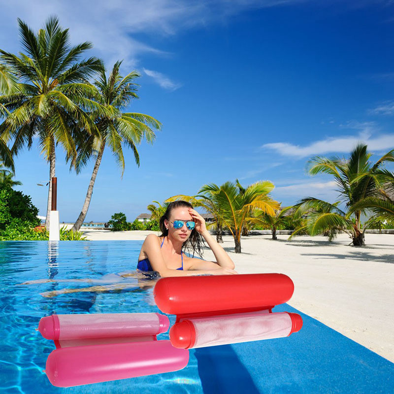 Swimming Pool Inflatable Water Floating Bed Hammock Lounge Mat Chair Portable US