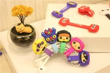 100pcs/lot Hot Sale Cartoon Hero Headphone Earphone Cable Wire Organizer Cord Holder USB Charger Winder For iphone samsung