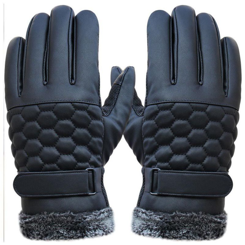 Warm Winter Gloves New Designer Mens Gloves High Quality Genuine Leather Sheepskin Mittens Smart Phone/Ipad One Pair