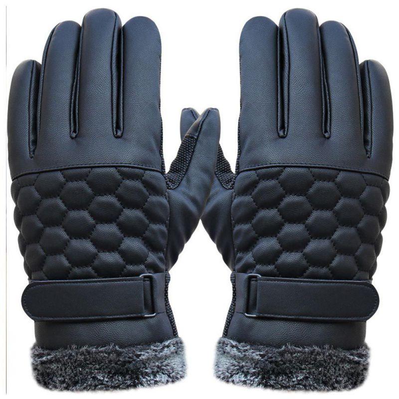 Warm Winter Gloves New Designer Mens Gloves High Quality Genuine Leather Sheepskin Mittens Smart Phone/Ipad One Pair