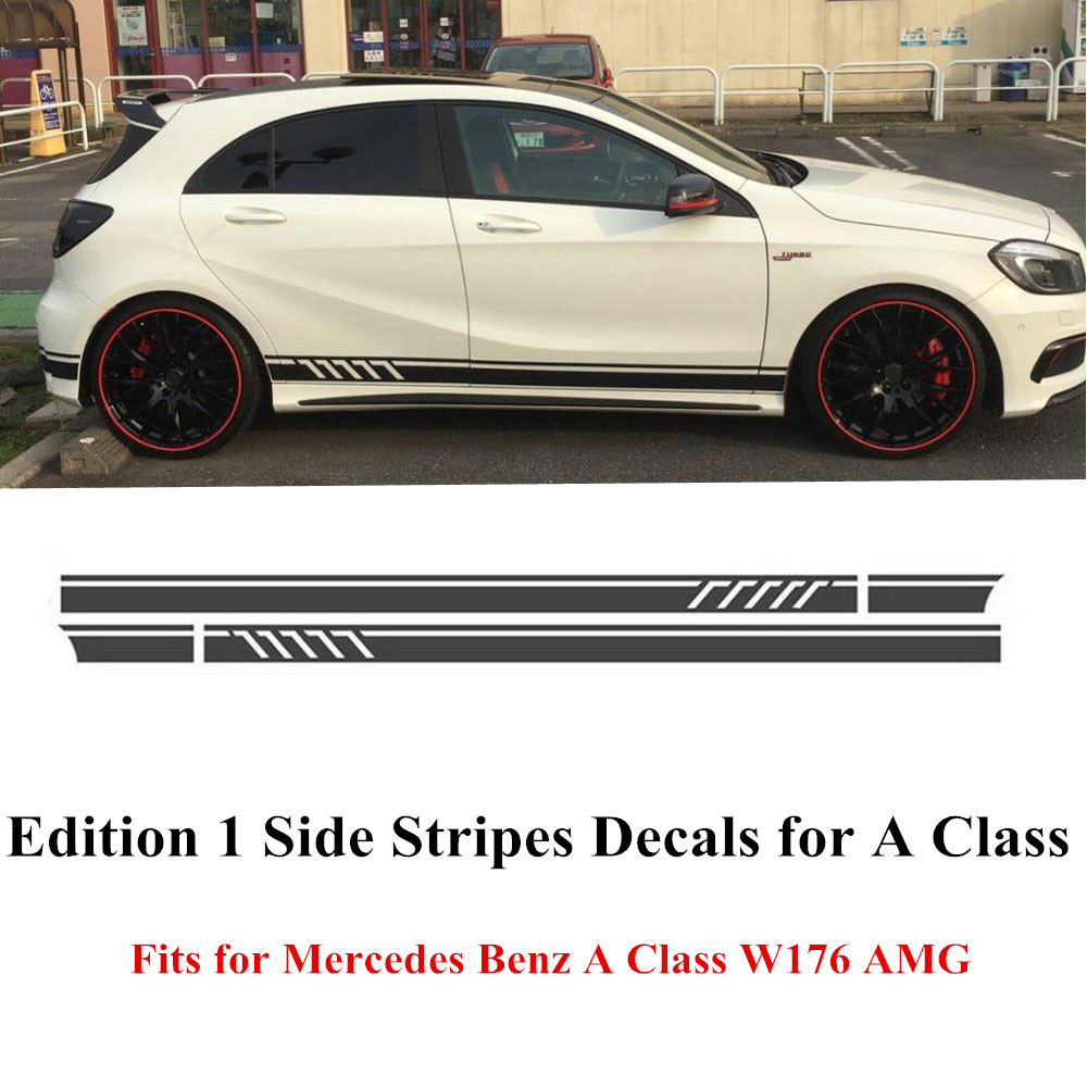Edition 1 Style Side Stripes Skirt Decals Sticker for ...