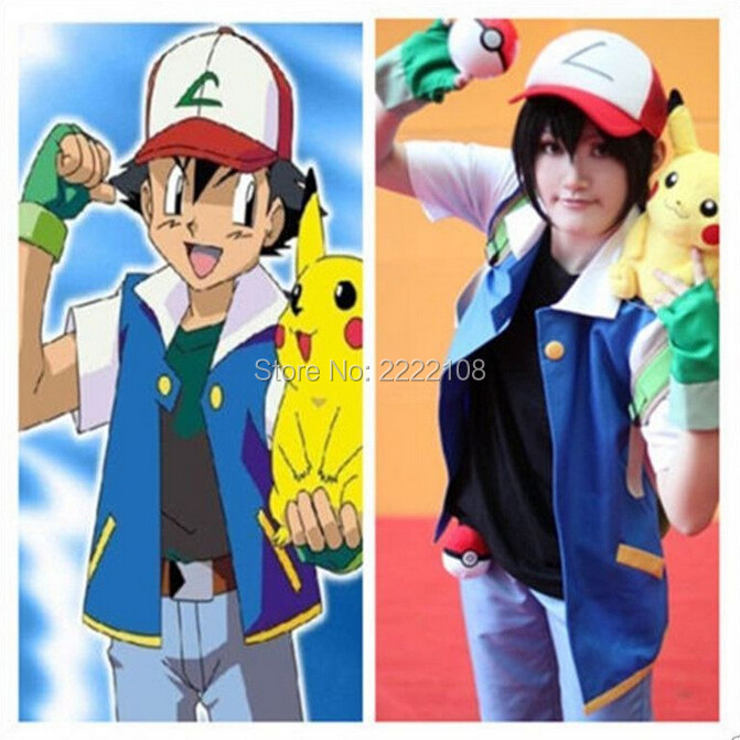 Аниме Pokemon Ash Ketchum Тренажер Костюм Cosplay - Костюмдер - фото 2