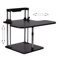Sit/Stand Desk Riser Height Adjustable Lightweight Standing Laptop Desk Notebook/Monitor Holder Stand With Keybaord tray DLJ02