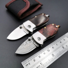 купить Handmade Mini Folding Knife Damascus 440C Blade Wood Handle Outdoor Pocket Camping Survival Knives Hunting EDC Tool Muti-Choise по цене 864.29 рублей
