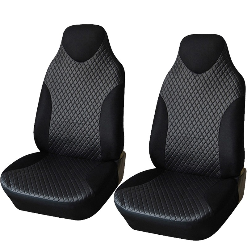 1 Pair Car Seat Cover Front PU Leather Universal Fits Sport Headrest Car Styling Auto Seat Protector Covers Interior Accessories
