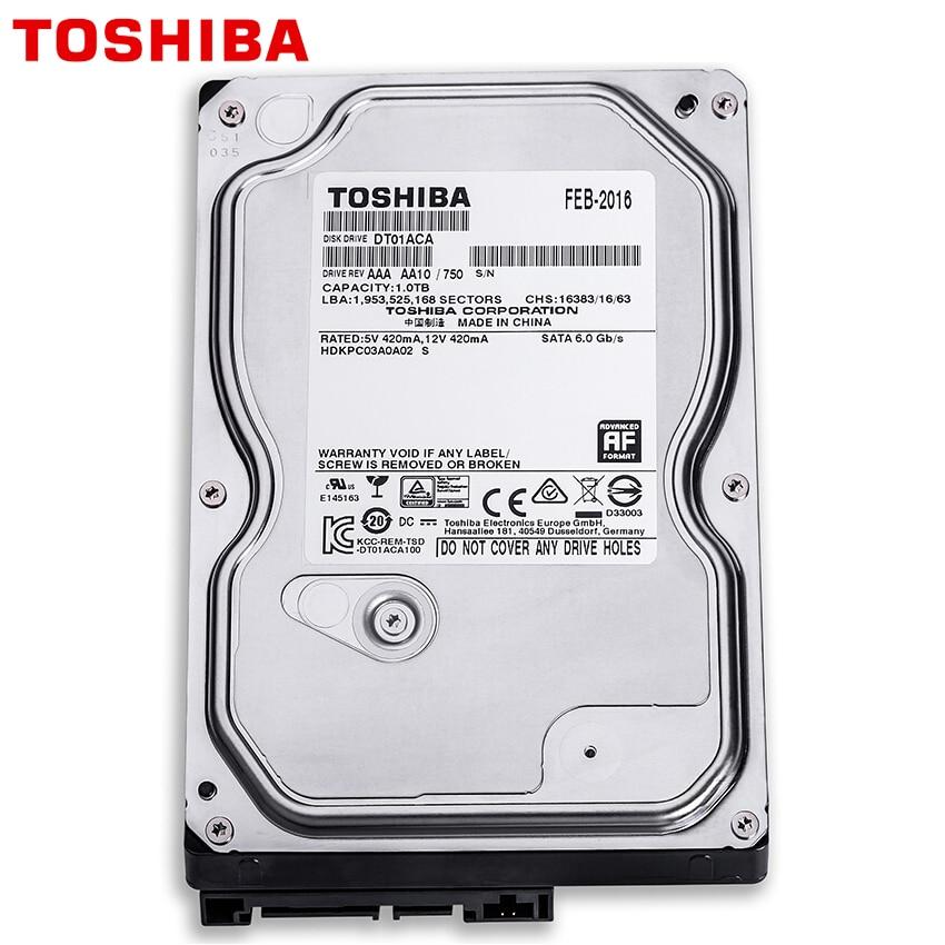 "TOSHIBA 500GB Internal Hard Drive Disk Harddisk HDD HD 500 GB 500G SATA III 3.5"" 7200 RPM 32M Cache for Desktop Computer 2"