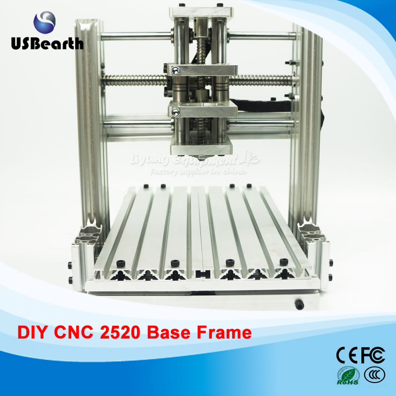 DIY CNC machine 2520 Base frame kit cnc Engraving machine router Machine, free tax to Russia free tax to eu high quality cnc router frame 3020t with trapezoidal screw for cnc engraver machine