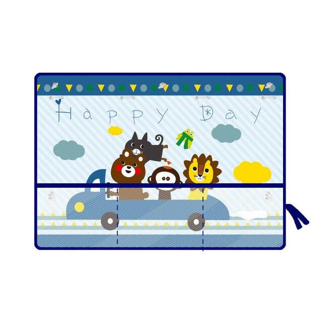 Автомобильная мультяшная занавеска, защита от солнца, автомобильная шторка, боковая Блокировка, растяжимый солнцезащитный козырек, тканевая занавеска для малышей, детей#2 - Цвет: A5 with storge net