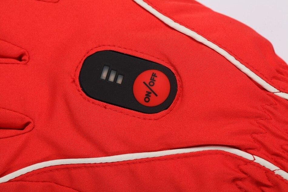 skiing riding golf racing battery heating waterproof windproof red women's 2017