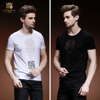 summer New male men's man T-shirt short sleeved personality printed slim Perspective