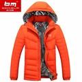 Casaco de inverno Homens Pato Branco Para Baixo Jaqueta de Inverno 2016 da Marca dos homens Casual Grosso Roupas Outwear Para Homens Plus Size 3XL 4XL Masculino 901
