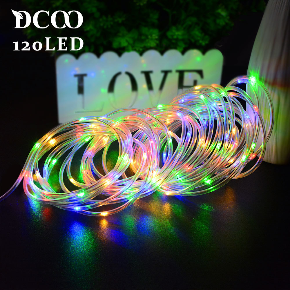 Solar Rope Lights 120 Leds Ed Led String Outdoor Garden Party Lighting Light Waterproof Decoration