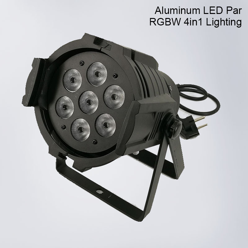 Led Par 7x12W Aluminum Alloy LED Par Can RGBW 4IN1 disco party light DMX512 Wash dj stage light Strobe Effect Stage Lighting free shipping 54x3w flat led par light rgbw best quality par can dmx512 disco dj home party ktv led stage effect projector page 5