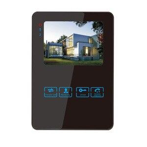 Image 5 - Homefong 4 pouces filaire vidéo porte téléphone sonnette interphone système vidéo caméra noir/blanc enregistrement étanche à la pluie