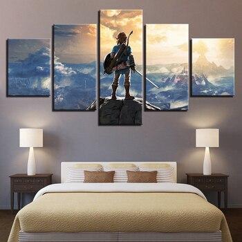 ตกแต่งบ้านงานศิลปะผ้าใบพิมพ์5แผงตำนานที่ทันสมัยกรอบสำหรับภาพวาดModularรูปภาพผนังศิลปะสำหรั...