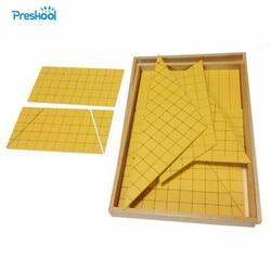 Монтессори детские игрушки детские деревянные желтые треугольники для области обучения образования дошкольного обучения Brinquedos Juguets