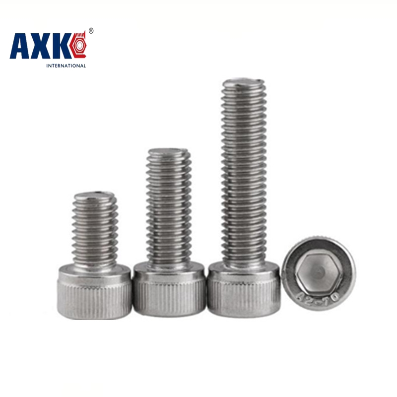 free shipping 50pcs/lot DIN912 M2*4/5/6/8/10/12/14/16/18/20 Stainless Steel 304 Hexagon Hex Socket Head Cap Screw 50pcs iso7380 m3 5 6 8 10 12 14 16 18 20 25 3mm stainless steel hexagon socket button head screw