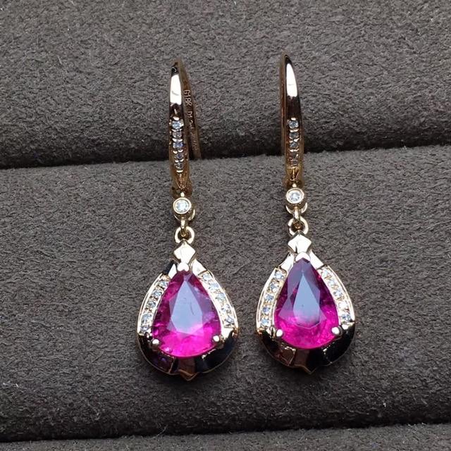 factory wholesale SGARIT brand new fashion 18k real gold Amethyst natural gemstone Imbue Diamond stud earrings jewelry 3