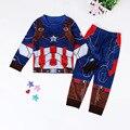 2 шт. Детская Одежда Устанавливает Мультфильм Babys Мальчиков HERO Спорт костюм комплект Костюмы Дети Одежда наборы Повседневная одежда Пальто + брюки