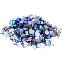 Amethyst AB Non Hotfix Crystal Rhinestones SS3-SS30 And Mixed Sizes Glue On Glass Chaton DIY Backpack Clothes Bag Shoes Supplies