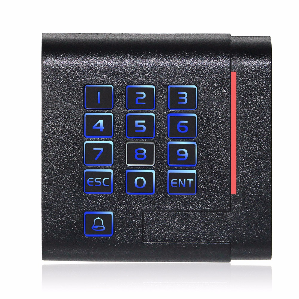 EM-ID 125kHz Card Reader Keypad Built-in Antenna/LED/Speaker For Door Access Control Card Reader For Home Security F1750A