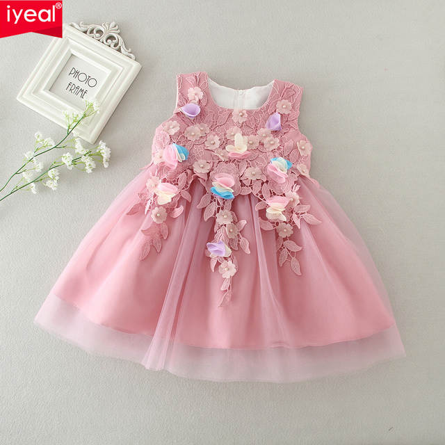 42f67b92f707 Online Shop IYEAL High Quality Flower Princess Baby Dress for Infant ...