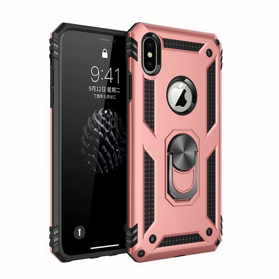 Luxury Brand Case For Iphone XS Max X XR Case Fit Soft Bumper Armor Heavy Duty Hard Stand Back Cover For Iphone 7 8 Plus 6 6S
