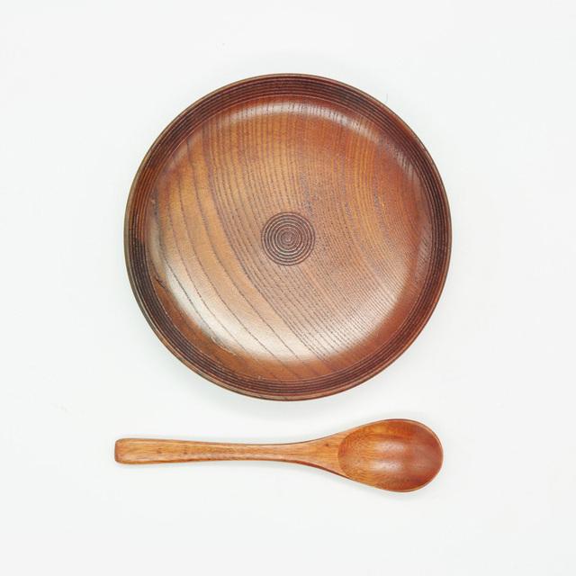 Wooden Tea Mug with Saucer & Spoon Set