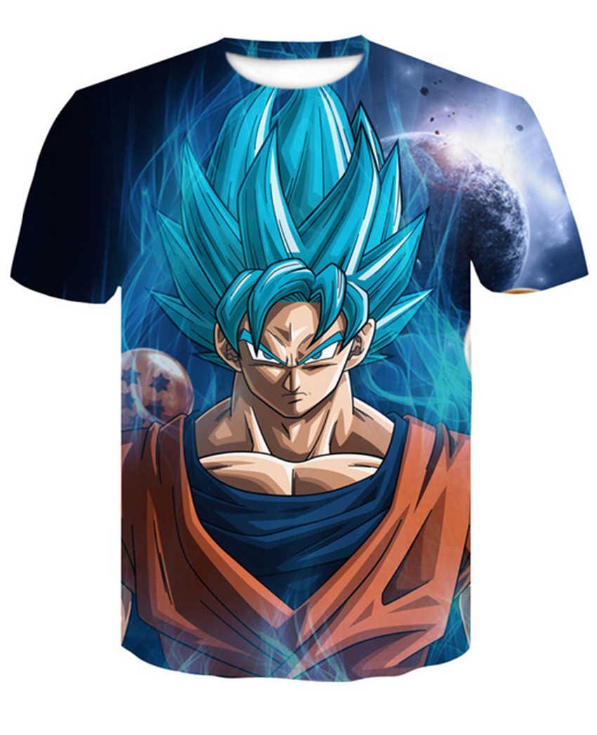 Для мужчин футболка короткий рукав Костюмы Dragon Ball сверхточного Супер Saiyan Бог сын Гоку печатных футболка высокая эластичность футболка; Топы