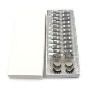 Image 2 - 100Pairs/Pack Eyelashes 3D Mink Lashes With Tray No Box Hand Made Full Strip Lashes Mink False Eyelashes Makeup eyelashes Fluffy
