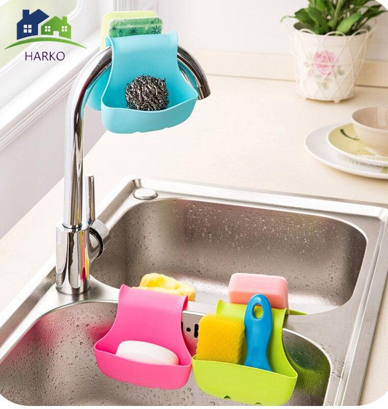 New Double Side Sink Sponge Holder Portable Tableware Drying Kitchen Storage Organizer Rack Holders Hanging Drain Basket Aug30