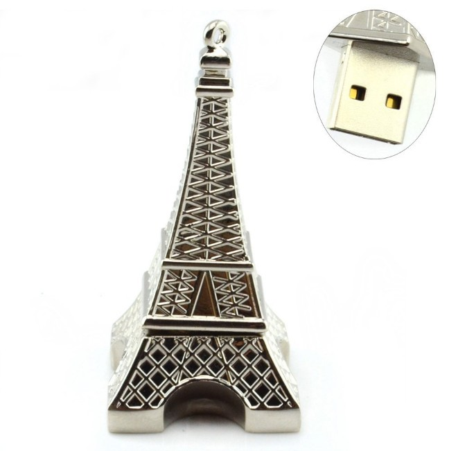 USB Flash Drive  Pen Drive Pendrive Metal Eiffel Tower Style 2GB 128GB  256GB16GB 32GB 64GB 2.0 Memory Stick