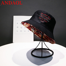 ANDAOL Womens Casual Cap Top Quality Solid Double Sided Cotton Embroidery Sun Hat Luxury Trend Travel Sunscreen Fisherman Hats