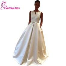Свадебные платья vestido de noiva 2020 атласное платье для невесты