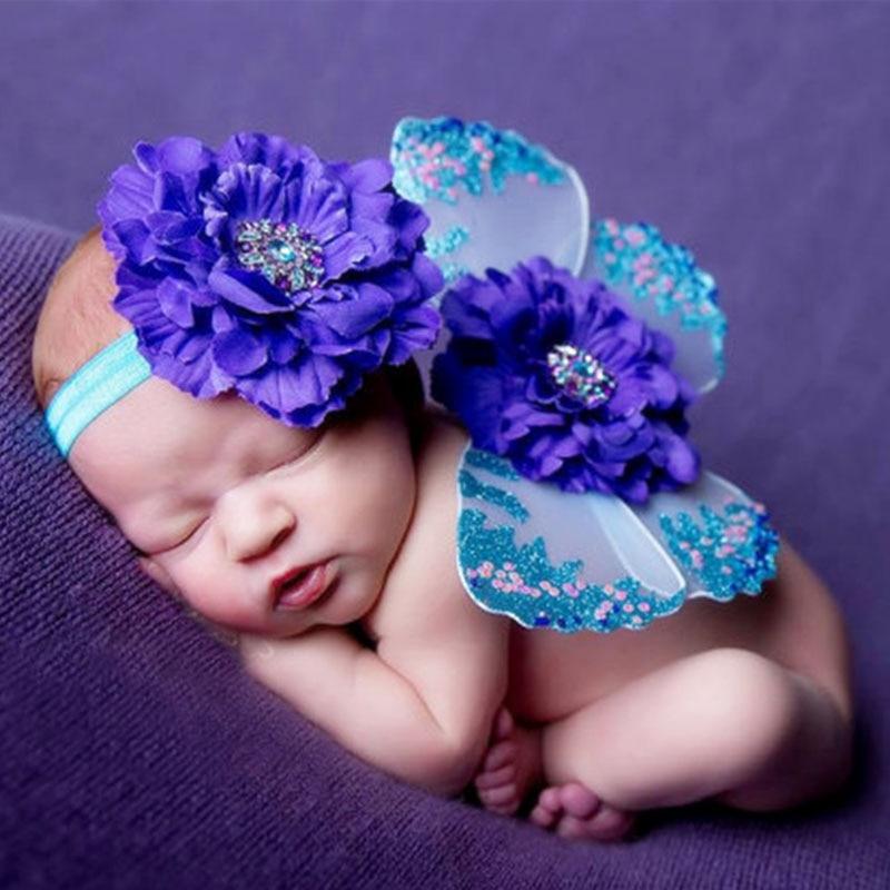 Traje del bebé recién nacido fotografía mariposa recién nacido - Ropa de bebé