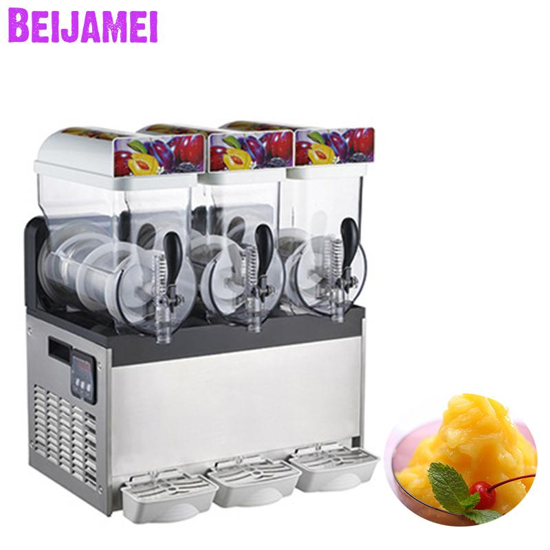 Beijamei Snow Melt Snow Mud Making Machine Catering Shop Commercial Smoothie Cold Drink Maker Electric Slush Ice Machines