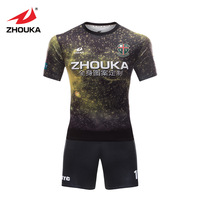 Free Shipping Thai Football Shirt Wholesale Sportwear V Neck Sublimated Soccer Jersey Sublimation Jersey