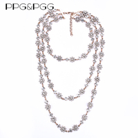PPG PGG Vintage Hot Layer Collar Choker Necklaces Pendant Simulated Pearls Luxury Beads Maxi Necklace Women